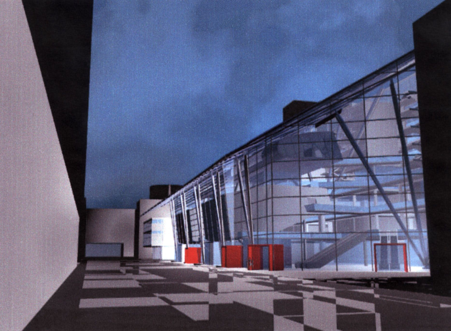 ZU OTS 091 - Ein Modell für den Neubau der Maschinenbaufakultät der TU Wien in der Donaucity.  OTS-Foto: WED