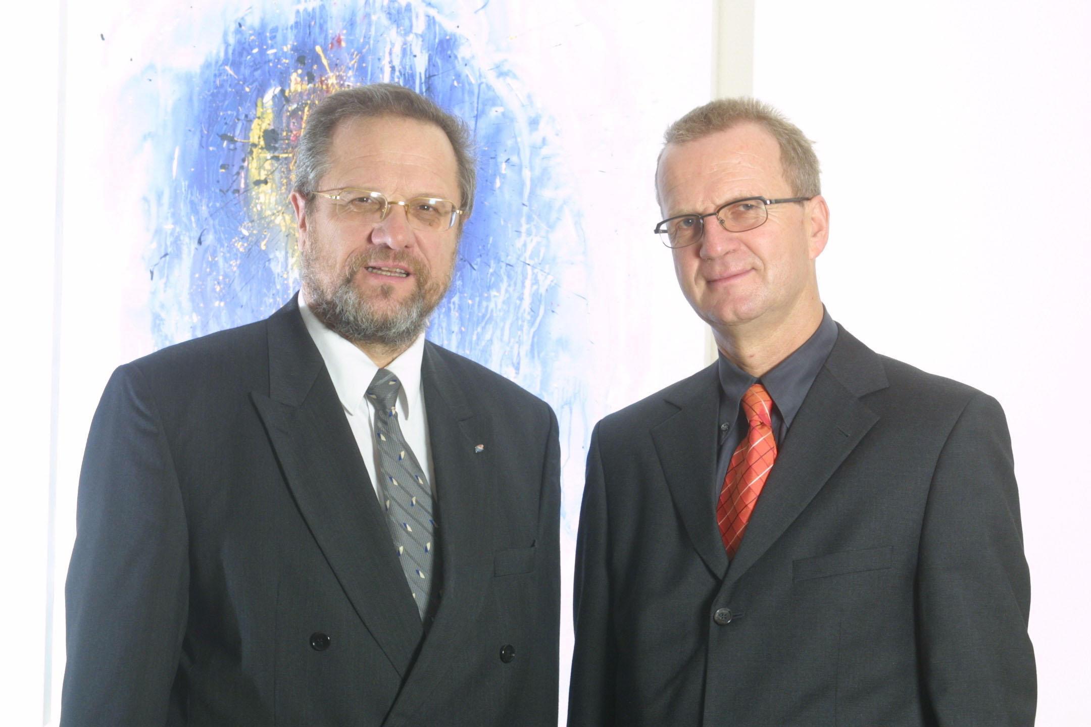 Bild zu OTS - Die Geschäftsführung der VERBUND-Austrian Thermal Power GmbH & Co KG vormals AG (ATP). Im Bild vlnr:  Dipl.-Ing. Anton Smolak  und Dr. Oswin Kois