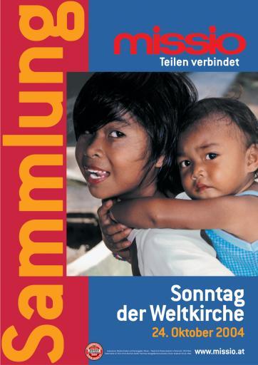 Plakatmotiv zur Missio-Sammlung zum Sonntag der Weltkirche 2004