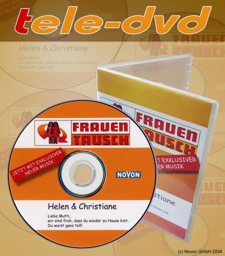 """Die Tele-DVD von Novon ist eine neue Video-DVD für TV-Formate und wird zunächst für Zuseher der erfolgreichen RTL2 Doku-Soap  """"Frauentausch"""" erhältlich sein. Ab 02.11.2004 wird jeder der bis zu 2,5 Mio. Zuschauer bereits während der Sendung in Echtzeit die aktuelle Folge mit einer persönlicher Widmung bestellen können."""