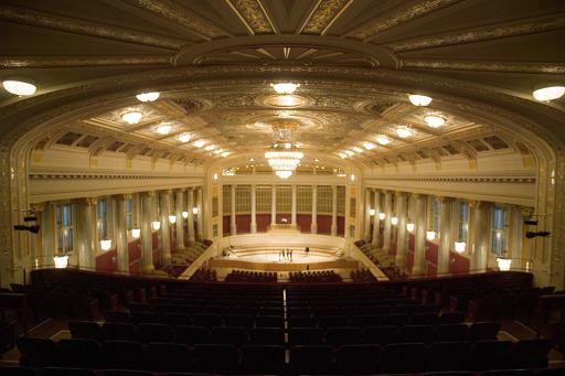 Wiener Konzerthaus, Großer Saal. Das Wiener Konzerthaus ist Entwicklungspartner der Vienna Symphonic Library GmbH.