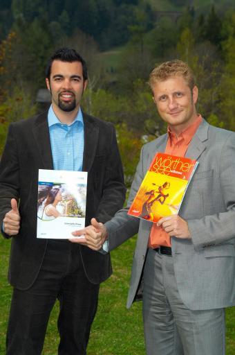 Gernot Riedel (rechts), Geschäftsführer der Gasteinertal Tourismus GmbH (GTG) und Stefan Heinisch, bei der GTG verantwortlich für die gesamte Marktkommunikation, verlassen im Sommer ihre Posten und wechseln nach Kärnten.
