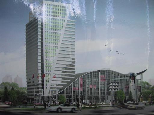 Im 4. Stock des Information Plaza Peking entsteht eine AST Kunsteisbahn.