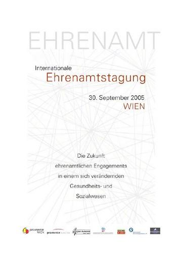 Internationale Tagung am 30.09.2005, von 9-17 Uhr im Veranstaltungsraum der Galerie Sonnensegel, Preßgasse 28, 1040 Wien.