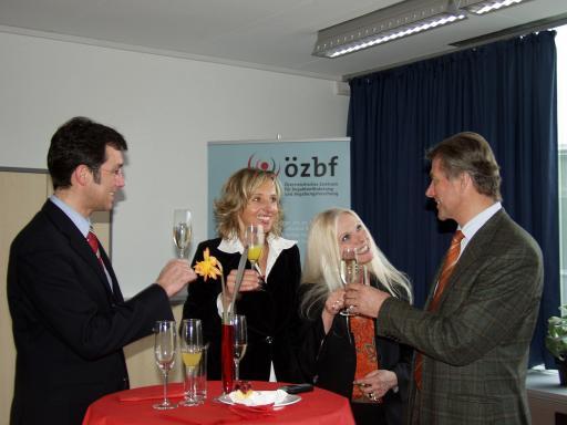 v.li.n.re.: Mag. Werner Pfeiffenberger (Geschäftsführer Techno-Z), Dr. Waltraud Rosner (Geschäftsführerin özbf), Dr. Gabriella Schranz (Techno-Z), Hofrat Gerhard Schäffer (Obmann özbf).