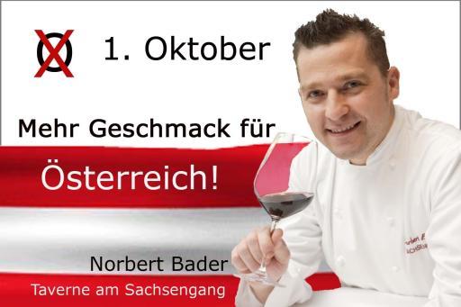 Küchenchef und Haubenkoch Norbert Bader fordert mehr Geschmack für Österreich