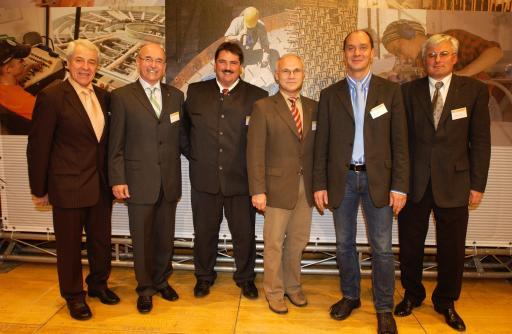 Das neu gewählte FSG-Bundesfraktionspräsidium der Gewerkschaft Bau-Holz