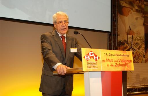 Der neue GBH-Bundesvorsitzende Johann Holper