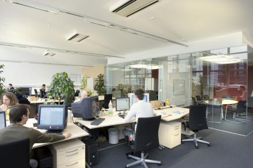 Das neue neuen Loft-Büro von three united im Techno-Z Salzburg schafft Platz für 36 Arbeitsplätze