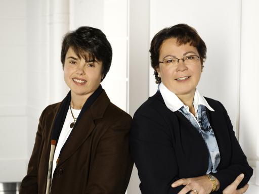 Erfolgreiche Kreditversicherer: Das Vorstandsduo Patricia Probst (l.) und Karolina Offterdinger festigte 2006 die starke Position der OeKB Versicherung AG.
