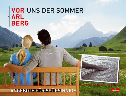 """Vorarlberg Tourismus schafft diesen Sommer einen besonders sinnlichen Zugang zur beeindruckenden Bergwelt des Landes. """"Spürsinnig"""" ist das Motto. Statt schweißtreibender Gipfelstürme steht das entspannende, inspirierende Erlebnis am und auf dem Berg im Mittelpunkt - sei es bei einer Barfußwanderung, beim eigenhändigen Sammeln und Zubereiten eines Kräutertees oder auf erhebenden Panoramawegen."""