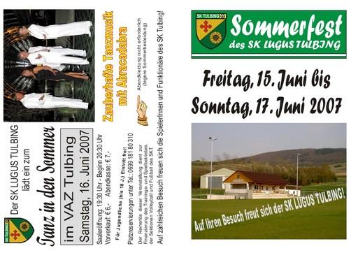 Sportklub Tulbing lädt zum Sommerfest