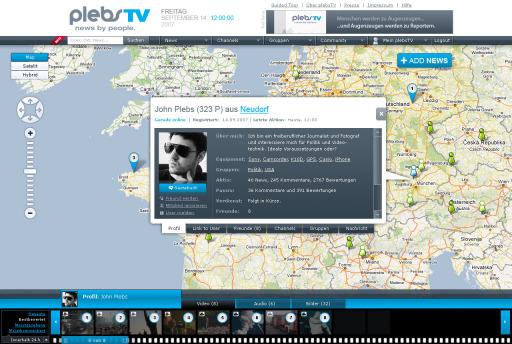 www.plebsTV.com: plebsTV - news by people - plebsTV will Menschen motivieren, ihre persönlichen und aktuellen Beobachtungen, ihre Erlebnisse und Erfahrungen aus dem unmittelbaren Umfeld anderen mitzuteilen. Gleichzeitig will plebsTV Menschen erreichen, die auf der Suche nach persönlich relevanten und aktuellen sowie authentischen und konkret lokalisierbaren Nachrichten und Informationen sind.