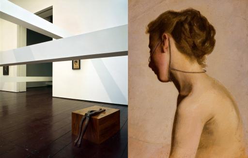 Ausstellungsansicht: Augarten Contemporary 2007, Foto: Margherita Spiluttini und Markus Schinwald, Lavinia, 2007, Öl auf Leinwand