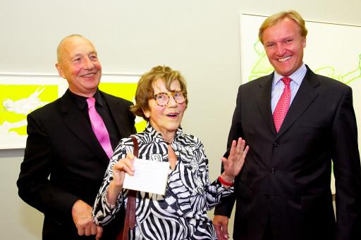 v.l.n.r.: Georg Baselitz, Maria Lassnig und Klaus Albrecht Schröder.