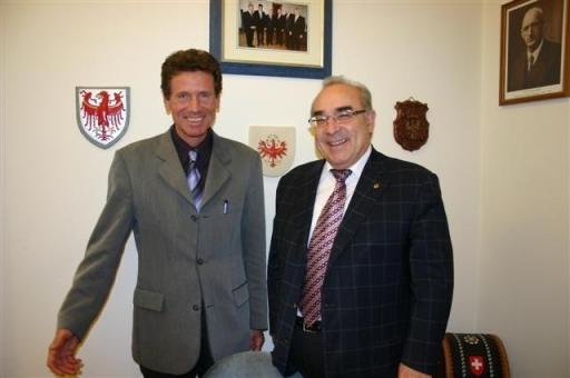 LT-Präs-Mader(r)empfing den neuen Rektor der Universität Innsbruck, Univ.-Prof.Dr.Karlheinz Töchterle(l)