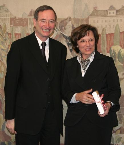 WKÖ Präsident Christoph Leitl mit Emilia Müller, Bayerische Staatsministerin für Wirtschaft, Infrastruktur, Verkehr und Technologie