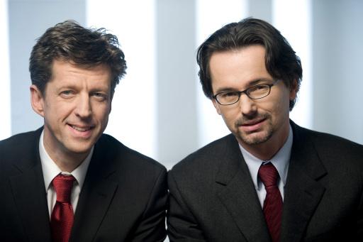Die neuen Stromnetz-Geschäftsführer Mag. Walter Hirschmugl (li.) und DI Dr. Franz Strempfl