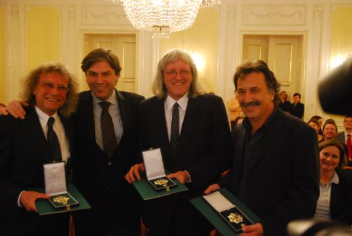 Im Bild v.l.n.r.: Schiffkowitz, LH Mag. Franz Voves, Günter Timischl, Gert Steinbäcker