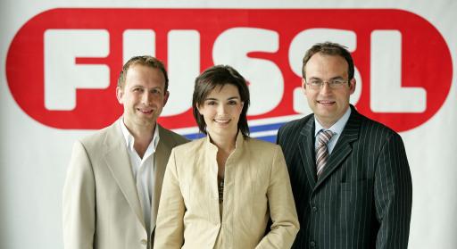 Neue Fussl-Standorte in Tulln und Graz/Nord v.l.n.r.: Karl Mayr, Mag. Maria Mayr, Ernst Mayr