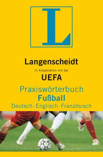 Volltreffer im Langenscheidt Programm: das offizielle Fußball-Wörterbuch der UEFA. In Deutsch, Englisch und Französisch enthält es über 5.200 aktuelle Fachbegriffe rund um das Spiel, das für viele die Welt bedeutet. Ob Abwehrkette oder Abstiegszone, Hackentritt oder Hattrick: Zu jedem Fachbegriff gibt es ausführliche Definitionen und zahlreiche Synonyme. Und weil Worte nicht alles zu sagen vermögen, erklären aufschlussreiche Illustrationen im Anhang die wichtigsten Basics und Aufstellungen. Wissenswertes über die UEFA und ihre Wettbewerbe zeigt schließlich, dass nicht nur der Ball rund ist, sondern auch das Konzept dieses sportlichen Wörterbuches. EUR 16,95 (D), EUR 17,50 (A), CHF 29,90 - ISBN: 978-3-86117-290-1 /