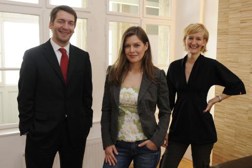 Im Bild (von links nach rechts): Andreas Hladky, Nicole Prieller, Brita Graser