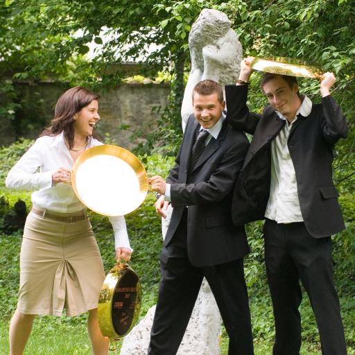 Goldenes Reindl Kochwettbewerb 2007 BRAUUnion Österreich. Im Bild: Die Jungen Gewinner des Vorjahres.