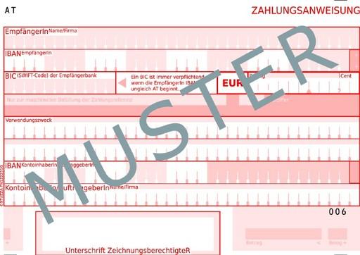 SEPA-Zahlungsanweisung mit 1. Juli 2008 schrittweise als neuer Standard-Zahlungsbeleg in Österreich eingeführt
