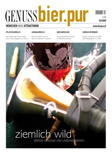 GENUSS.bier.pur ist das erste und einzige deutschsprachige Publikumsmagazin, welches sich ausschließlich dem Thema BIER widmet. Es erschien soeben in der vierten Ausgabe.