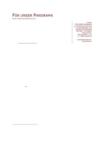 Offener Brief an Bundeministerin Schmied zum Riesenrundgemälde