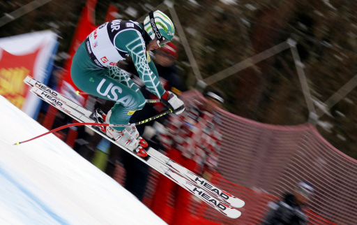 VAL GARDENA GROEDEN, ITALY. DECEMBER 20, Bode Miller of United States takes 2nd place during the Alpine FIS Ski World Cup. Men's Downhill on December 20, 2008 in Val Gardena Groeden, Italy. (Photo by Agence Zoom)