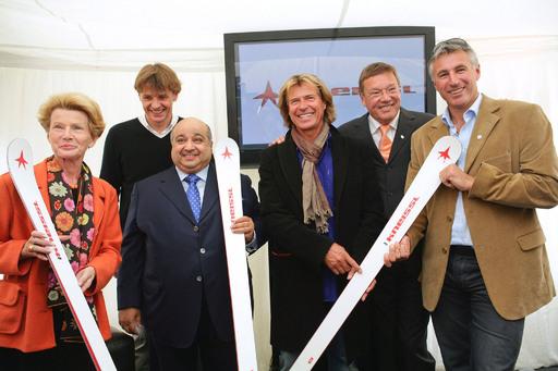 http://pressefotos.at/m.php?g=1&u=74&dir=200910&e=20091006_k&a=event Eröffnung der KNEISSL Star Lounge: (von links) Hilde Zach, Bgm. Innsbruck, Andreas Gebauer, GF KNEISSL, Scheich Al Jaber, Hansi Hinterseer, KR Fritz Unterberger und Leonhard Stock.