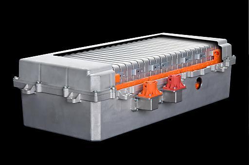 Batterie für Elektrofahrzeuge, produziert im Werk in Flins.