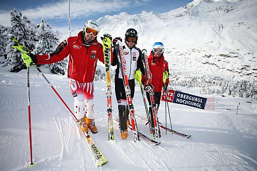 ÖSV-Asse Manfred Pranger, Reinfried Herbst und Wolfgang Hörl freuen sich, dass die Skiregion Obergurgl-Hochgurgl für zwei FIS-Slaloms einspringt.
