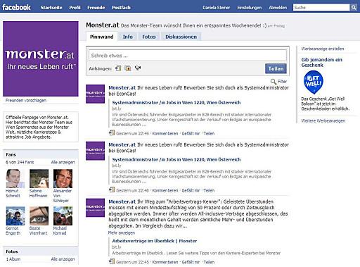 Screenshot MonsterAT auf Facebook