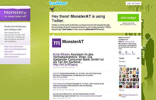 Screenshot MonsterAT auf Twitter
