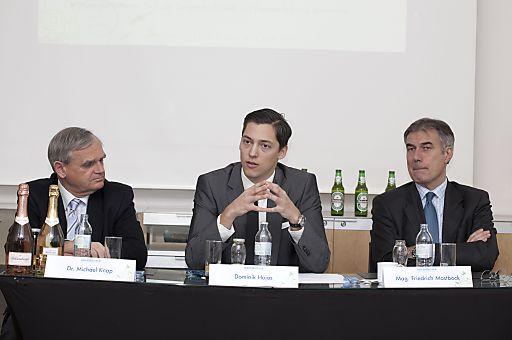 V.l.n.r: Dr. Michael Knap, Dominik Hojas, Mag. Friedrich Mostböck