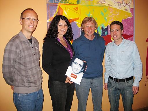Peter Bichler (Putz und Stingl), Regina Docekal (Ö1), Jazz Musiker Sigi Finkel (www.sigifinkel.com), Harald Sorger (Putz und Stingl)
