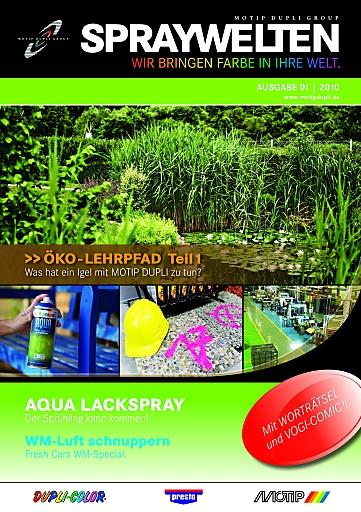 Titelseite des MOTIP DUPLI Kundenmagazins SPRAYWELTEN