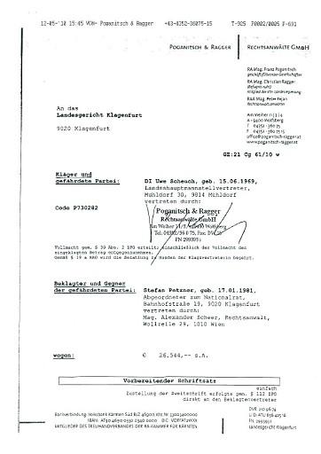 BZÖ-Petzner: FPK-Landesrat Ragger bricht Verfassungsbestimmungen und hält sich nicht an Unvereinbarkeitsgesetz!
