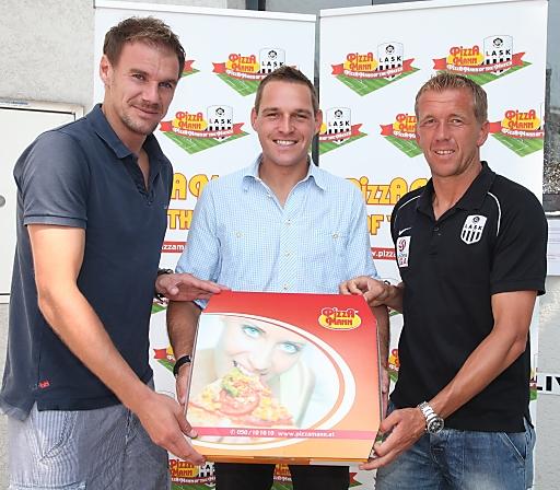Lask Linz: Bild: Pizza Mann Verlängert LASK-Sponsoring