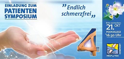 Symposium 'endlich schmerzfrei' am 21.10.10 für chronische Schmerzpatienten und Interessierte