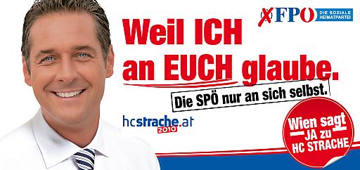 24-Bogen-Plakat der FPÖ für die Wiener Landtagswahl 2010