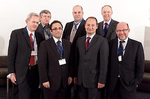 v.l.n.r.: Mag. Reginald Benisch, DI Dr. Wolfdieter Dreibholz, SE Fuad Ismayilov, Alon Shklarek, MBA, Mag. Andreas Schieder, Dr. Wolfgang Ruttenstorfer, Dr. Gabriel Lansky