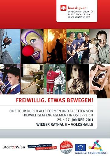 Österreichs Freiwilligenorganisationen präsentieren sich vom 25.1.2011 bis 27.1.2011 im Wiener Rathaus