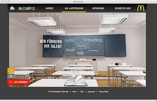 McDonald's Österreich geht mit Weiterbildungs- und Karriereplattform McCampus online