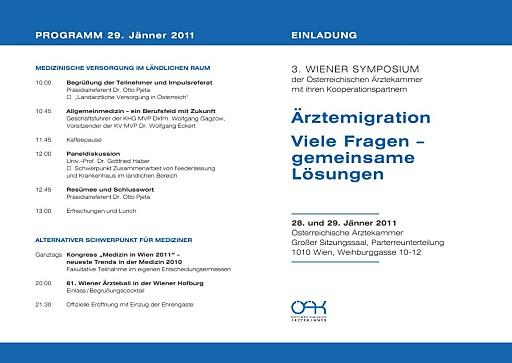 Ärztemigration beschäftigt Symposium