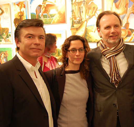 Michael Holeschofsky, kubanische Kulturattachée Ivet LOPEZ, Kurator Dr. Alfred Weidinger