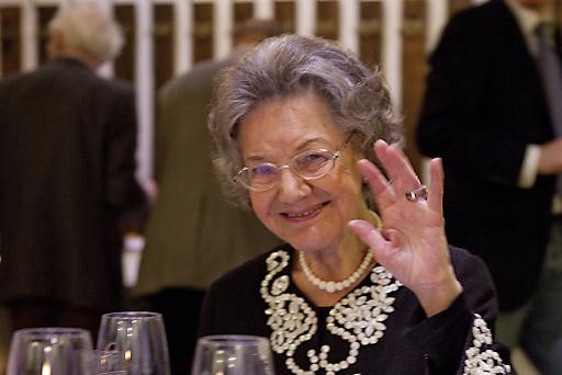 Dr. Elisabeth Leopold (Vorstand Leopold Museum) bei der Feier zu ihrem 85. Geburtstag.