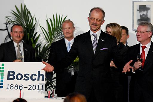 Begrüßte die Gäste bei der 125 Jahre Bosch Gala und führte sie durch einen Abend voll Technik fürs Leben: Dr. Karl Strobel, Alleinvorstand der Robert Bosch AG und Repräsentant der Bosch-Gruppe in Österreich.